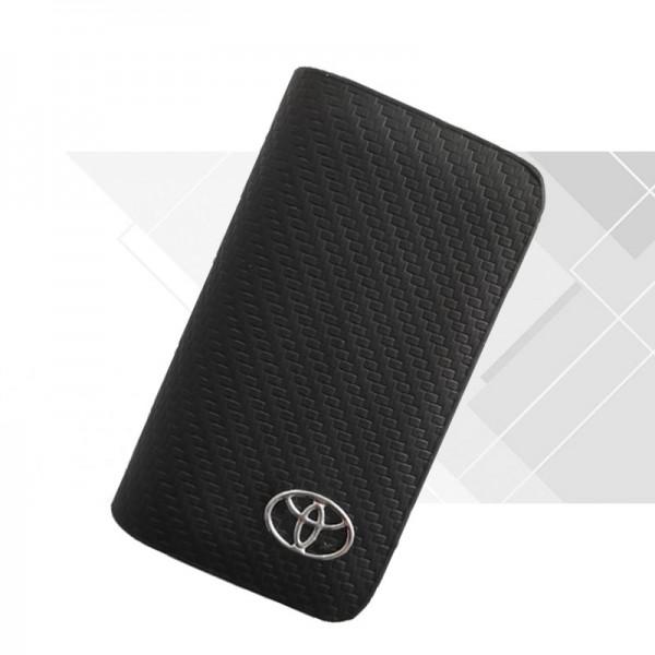 Кожен калъф Toyota черен